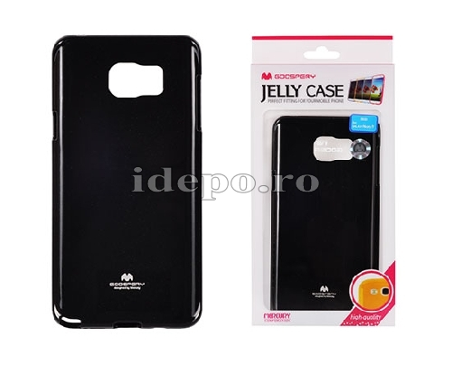 HUSE SILICON <BR> MERCURY JELLY <BR> GALAXY NOTE 5 - NEGRU