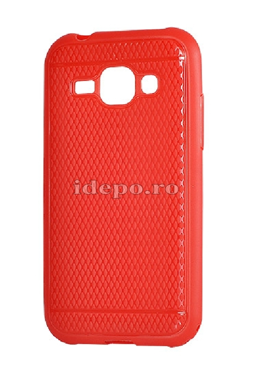 HUSE SILICON<BR> VIKI CASE<BR>IPHONE 5/5S - ROSU