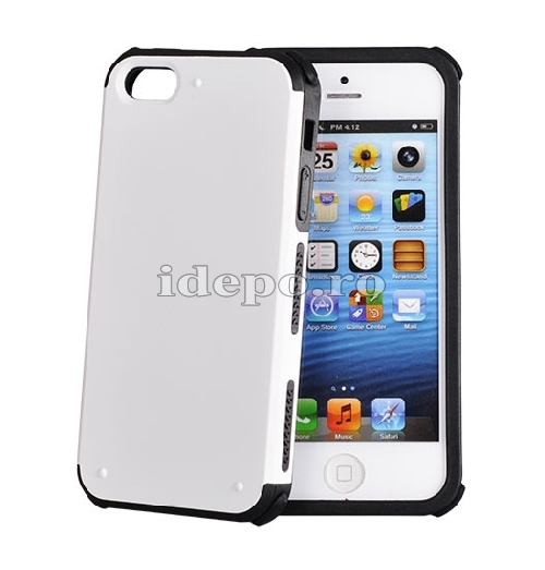 HUSA POLICARBONAT <BR> DOUBLE ARMOR <BR>IPHONE 5 - ALB