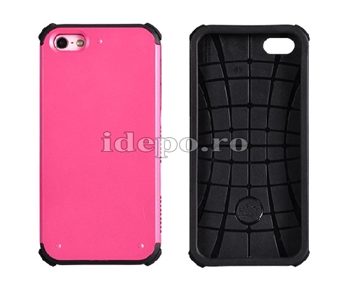 HUSA POLICARBONAT <BR> DOUBLE ARMOR <BR> IPHONE 5 - ROZ