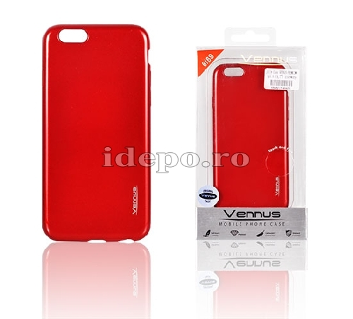 HUSA SILICON<BR> JELLY PREMIUM <BR>GALASY S6 - RED