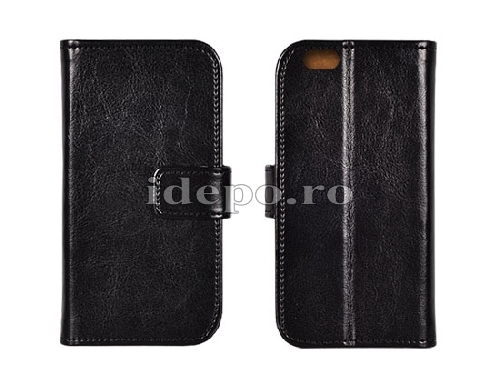 HUSE PIELE   ITALIAN REAL LEATHER  GALAXY J5 - BLACK