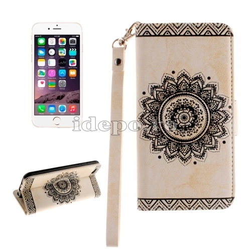 HUSE PIELE<BR>EMBOSSED FORAL<BR>IPHONE 6, 6S PLUS - WHITE