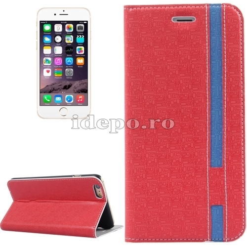 HUSE PIELE <BR>IPHONE 6, 6S PLUS<BR>ORACLE - RED+BLUE