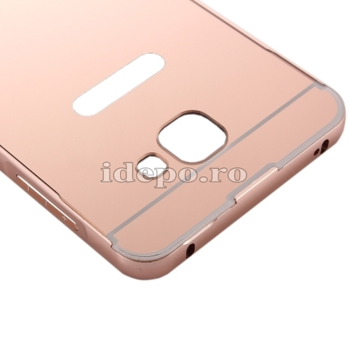 HUSE SAMSUNG PC/METAL<BR> ELECTRO SHELL COVER<BR>GALAXY A5 - ROSE-GOLD