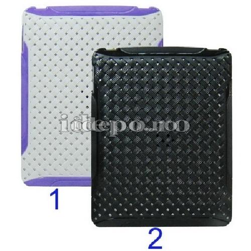 Husa iPad <br> Retro - ALB/MOV <br> Accesorii iPad