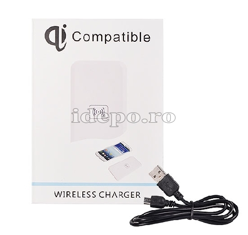 Incarcator INDUCTIE WIRELESS <BR> Compatibil Qi <br> iPhone, Galaxy, HTC ONE, LG