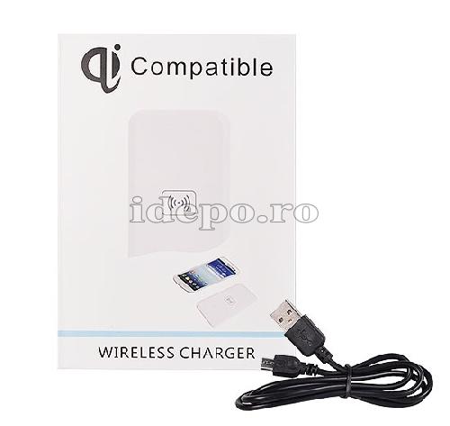 Incarcator INDUCTIE WIRELESS <BR> Compatibil Qi <br> iPhone, Galaxy, HTC ONE, LG