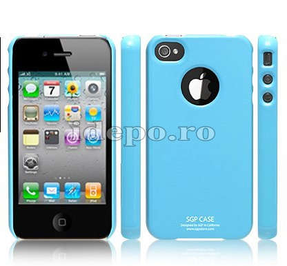 Husa iPhone 4  SGP Ultra Thin Marine+ Folie protectie ecran