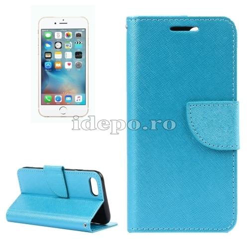 HUSE PIELE IPHONE 7 <BR> CROSS FLIP - BLUE