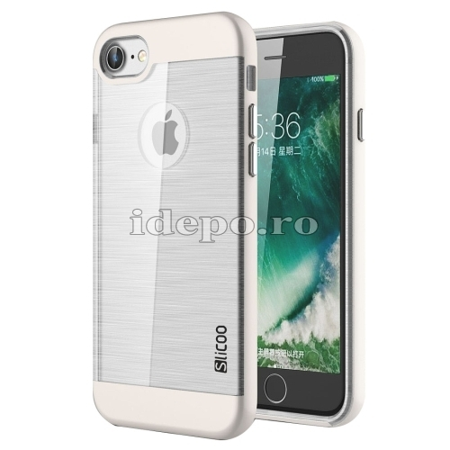HUSE IPHONE 7 <BR> TPU - WHITE <BR> SLICOO CONCISE