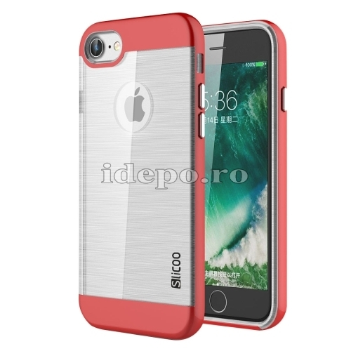 HUSE IPHONE 7 <BR> TPU - RED <BR> SLICOO CONCISE