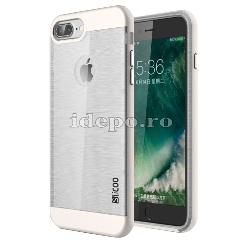 HUSE IPHONE 7 PLUS <BR> TPU/PC - WHITE <BR> SLICOO CONCISE