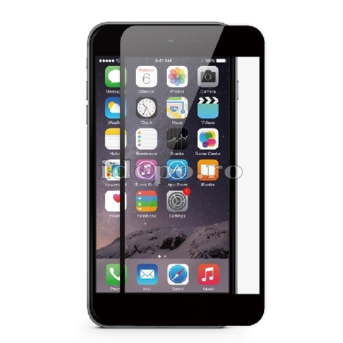 Folie protectie sticla securizata <br> Tempered Glass iPhone 6, 6S - BLACK