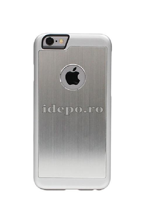 Husa iPhone 6 PLUS, 6S PLUS <br> Carcasa spate aluminiu - SILVER