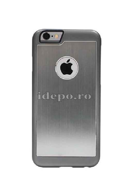 Husa iPhone 6 PLUS, 6S PLUS <br> Carcasa spate aluminiu - GRAY