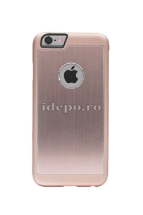 Husa iPhone 6 PLUS, 6S PLUS <br> Carcasa spate aluminiu - ROSE GOLD