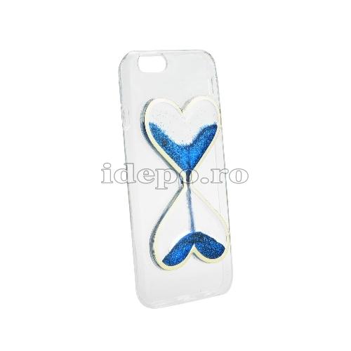Husa iPhone 5/5S/5SE - TPU <br> iPhone Q-Sand HART - Albastru <br> Accesorii iPhne 5/5S/5SE