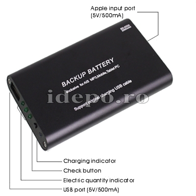 Baterie acumulator iPhone, iPad, BlackBerry, Samsung 2000mAh