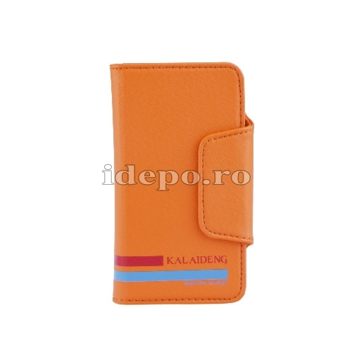 Husa iPhone 5C <br> Husa iPhone VERSAL - Piele <br> Accesori iPhone 5C - Orange