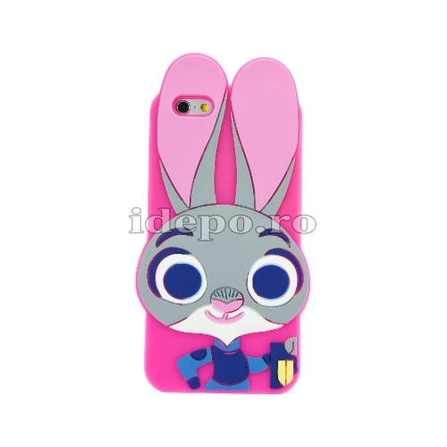 Husa iPhone 5/5S/5SE <BR> Husa iPhone Silicon - 3D Iepuras <BR> Accesorii iPhone 5/5S/5SE