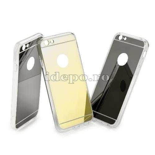 Husa iPhone 5/5S/5SE <br> Husa iPhone TPU - Mirror Auriu <br> Accesorii iPhone 5/5S/5SE
