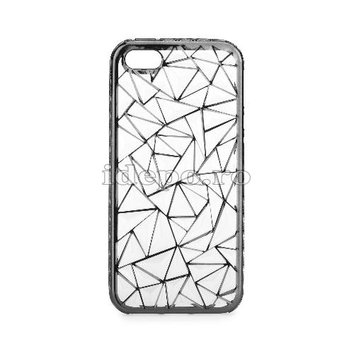 Husa iPhone 5/5S/5SE <BR> Husa iPhone LUXURY Negru <br> Accesorii iPhone 5/5S/5SE