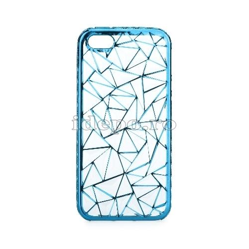 Husa iPhone 5/5S/5SE <BR> Husa iPhone LUXURY Albastru <br> Accesorii iPhone 5/5S/5SE