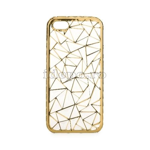 Husa iPhone 5/5S/5SE <BR> Husa iPhone LUXURY Auriu <br> Accesorii iPhone 5/5S/5SE