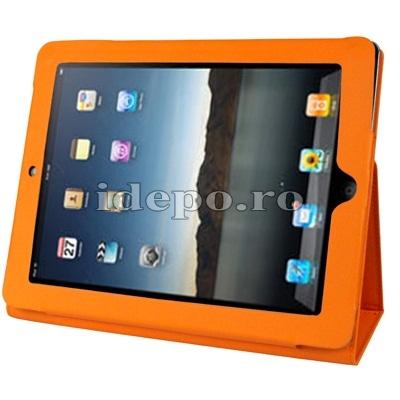 Husa iPad <br> iPad 2-3-4 (9.7 INCH) <BR> Sun Valeo Piele - Orange