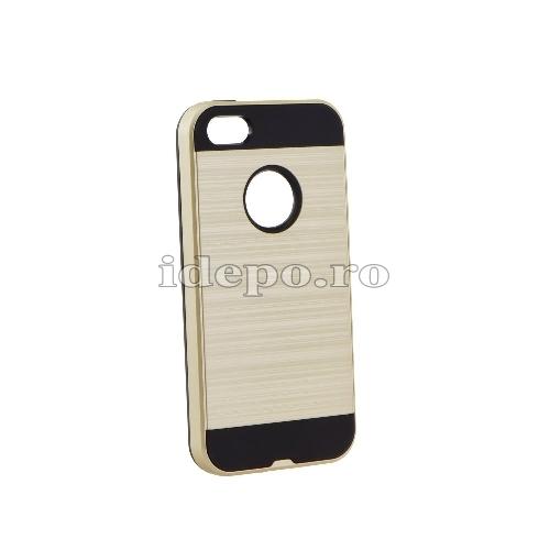 Husa iPhone 5/5S/5SE <BR> Husa iPhone Moto, Auriu <br> Accesorii Husa iPhone 5/5S/5SE
