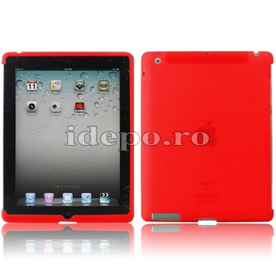 Husa silicon iPad 2  Silicon Ultra Slim Red Accesorii iPad