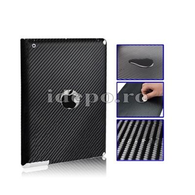 Folie protectie carbon iPad 4, iPad 3, iPad 2<br>Sun Professional Black