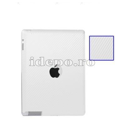 Folie protectie carbon iPad 4, iPad 3, iPad 2  Sun Professional White