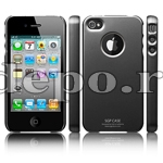 Husa iPhone 4  SGP Ultra Thin Titan+ Folie protectie ecran