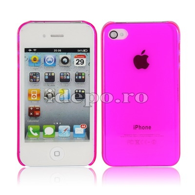 Husa iPhone 4S, 4   Sun Crystal Clear  MagentaAccesorii iPhone 4S