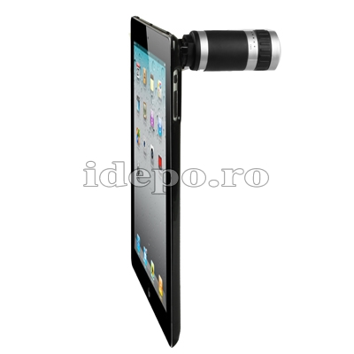 Obiectiv foto iPad 4, 3, 2 Zoom 6x cu carcasa de protectie