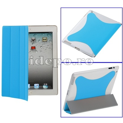 Husa iPad 2 <br> Smart Cover Light Blue <br> Functie hibernare