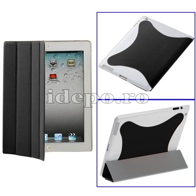 Husa iPad 2  <br> Smart Cover Light Black <br> Functie hibernare
