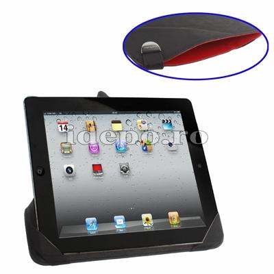 Husa iPad, iPad2 <br> Rovere Exclusive - Black <br> Functie de hibernare