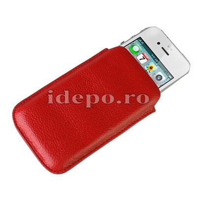 Husa iPhone 4,4S  <br> Sun Rovere Red<br> Accesorii iPhone 4