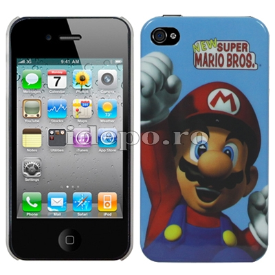 Husa iPhone 4,4S <br> Mario Bros <br> Accesorii iPhone 4S
