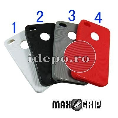 Husa iPhone 4S <br> Max Grip Anti Shock <br> Disponibila in diverse culori