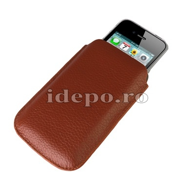 Husa iPhone 4, 4S<br> Sun Rovere Brown<br> Accesorii iPhone 4S