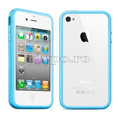 Bumper iPhone 4, 4S <br> Max Grip Blue <br> Accesorii iPhone 4S