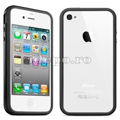 Bumper iPhone 4, 4S <br> Max Grip Black <br> Accesorii iPhone 4S