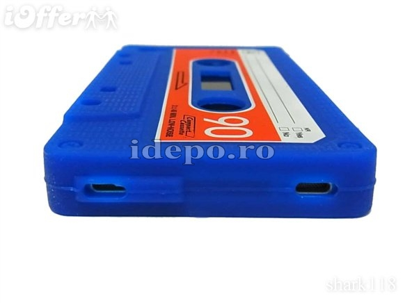 Husa iPhone 4,4S  <br> Audio Tape Blue<br> Accesorii iPhone 4S