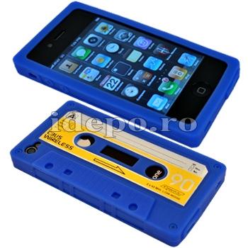 Husa iPhone 4,4S  <br> Audio Tape Blue<br> Accesorii iPhone 4S