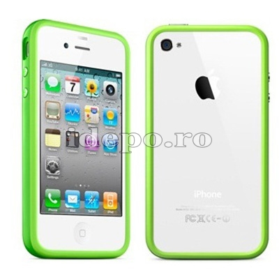 Bumper iPhone 4, 4S <br> Max Grip Green<br> Accesorii iPhone 4S