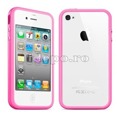Bumper iPhone 4,4S <br> Max Grip Pink<br> Accesorii iPhone 4